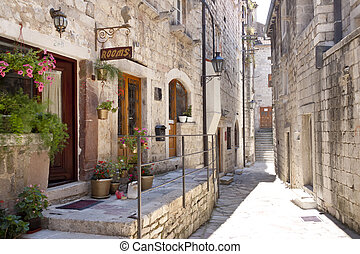 Tight street in Kotor - Montenegro - Montenegro, Kotor...