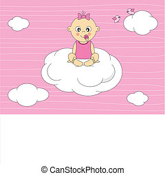 Baby sitting on a cloud