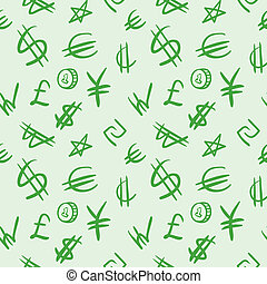 World currency symbols - Seamless background pattern with...