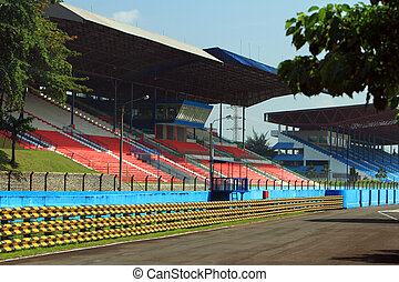 race track in stadium
