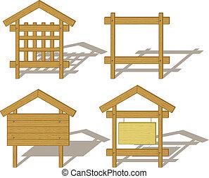 tabelloni, legno
