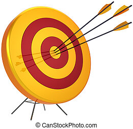 Target hitting with three arrows - Business target success...