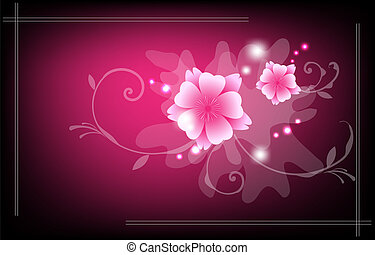 abstract floral glowing background