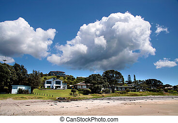 Villas near the coast of Whitianga, Coromandel Peninsula,...