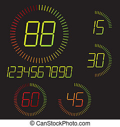 Digital timer illustration Easy editable 15 min interval...