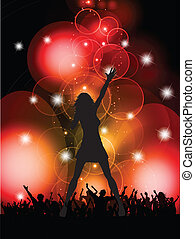 female singer performing - Silhouette of a female singer...