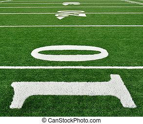 Ten Yard Line on American Football Field