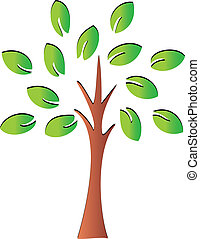 Tree with leaves logo vector