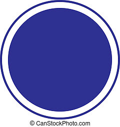 The circle blue sign blank