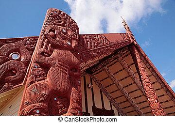 maorí, casa, Rotorua