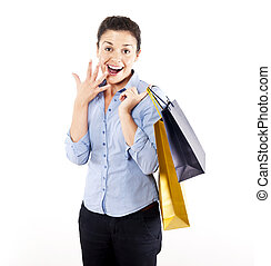 woman on shoping - woman with shoping bags