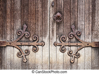 Old wooden door - A nice detailed background image of an old...