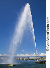 Jet d'Eau in Geneva, Switzerland