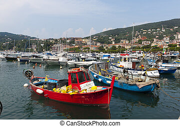 Lerici La Spezia, Liguria, Italy, the harbor
