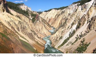 Grand Canyon of the Yellowstone - Yellowstone River winds...