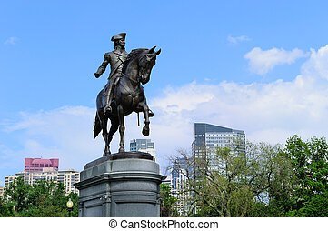 George Washington Statue in Boston Common Park - George...