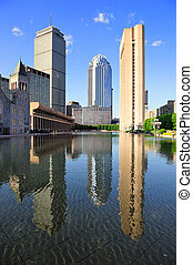 Boston urban architecture - Christian Science Plaza in...