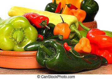 Variety of chili peppers - Variety of colorful chili peppers...