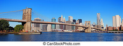 New York City panorama - New York City Manhattan skyline...