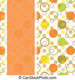 card design with colorful polka dot - vintage card design...