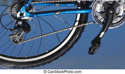 Bicycle in motion