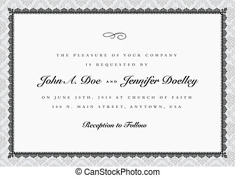 Vector Ornate Frame and Damask Background