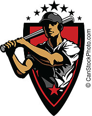 Baseball Player Batting Vector Desi