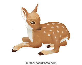 Deer - Illustration of a cute deer