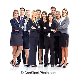 Business people. - Large group of business people. Isolated...