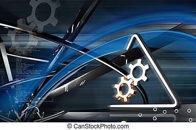 Industrial symbol - Digital illustration of Industrial...