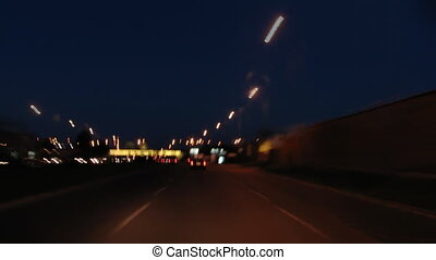 driving the city at night