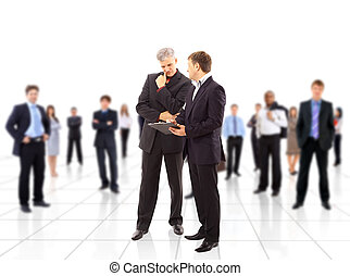 Business team or group at a meeting - Business team or group...