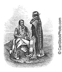 Ute People - Native American Ute People of southern...