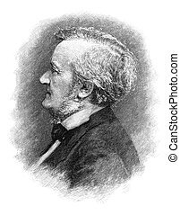 Richard Wagner (1813-1883) German composer. Engraving by...
