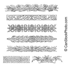 Scrolls - 19th century scrolls and decorations scanned at...