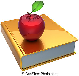 School book and apple of education - School book and apple...