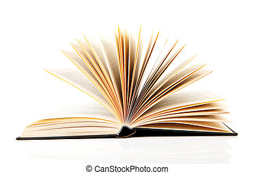open book over white background
