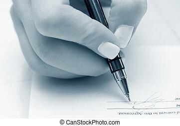 firma, contrato