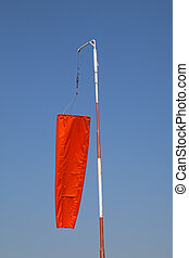 """""""Windsock"""" showing no wind on the airfield"""