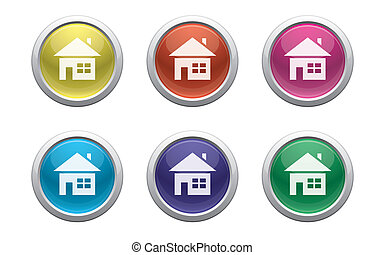 plastic home buttons - colour plastic buttons with home...