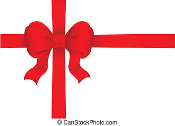 red gift bow