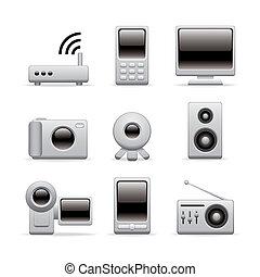 multimedia equipment icons