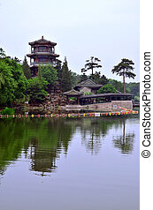 Pagoda in Chengde - Royal park territory View on pagoda...