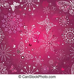 Seamless purple christmas pattern