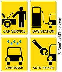 Car service, fuel station, auto repair - Auto service - set...
