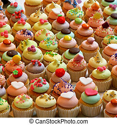 Cupcakes - Bunch of tasty colorful cupcakes