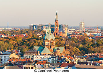 Munich Panorama - Panoramic view at the Munich city, Germany