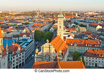 Famous church of the holy ghost in Munich, Germany