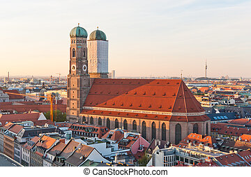 Frauenkirche - View at the famous Frauenkirche church in...