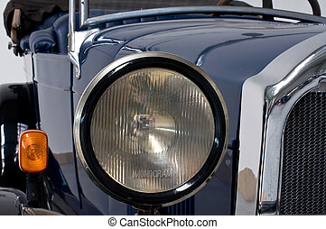 Front of an oldtimer car